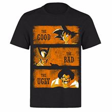 THE GOOD BAD AND GOKU UNISEX BLACK CLASSIC GAMERS PH9 T-SHIRT Print T-Shirt Mens Short Tee Shirt Homme Tshirt Men Funny