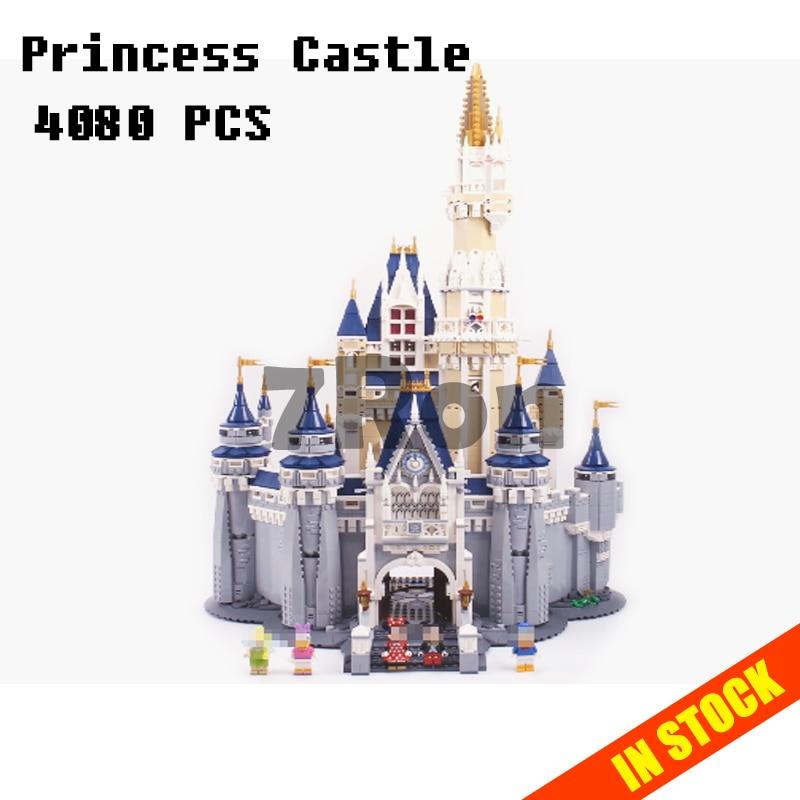 Modelli di costruzione del giocattolo 16008 Cinderella Princess Castle Modello Building Blocks Compatibile con lego City Series 71040 giocattoli e modellismo