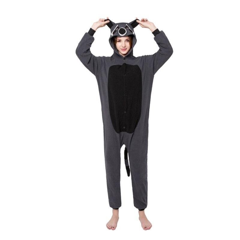 Halloween Costume Animal Grey Raccoon Pajama Sets Cartoon Sleepwear