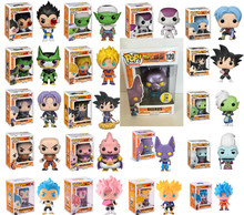 FUNKO pop Dragon Ball Super Saiyan Goku Super Vegeta plating BEERUS Zamasu Vinyl Figure New With Box for kids(China)