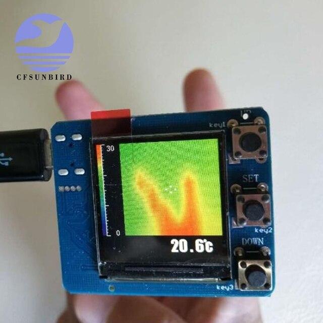 جهاز تصوير حراري IR 8x8 وحدة قياس درجة الحرارة مصفوفة الأشعة تحت الحمراء جهاز استشعار تطوير AMG8833 MLX90640 لتقوم بها بنفسك عدة ميزان الحرارة