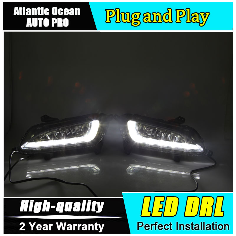 JGRT car styling For Hyundai Tucson LED DRL For Tucson led fog lamps daytime running light High brightness guide LED DRL free shipping auto car led lights front running car lamps fog light drl daytime running light for hyundai tucson 2005 2009