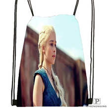 Custom game-of-thrones-khaleesi@1  Drawstring Backpack Bag Cute Daypack Kids Satchel (Black Back) 31x40cm#2018611-217