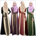 2017 Nueva primavera Verano Mujeres de Moda Falda de Gasa de Señora Girl Altura Del Tobillo Bottoms 4 colores Abaya Musulmán vestido casual