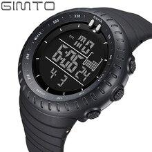 купить 2019 Fashion Men' Watches GIMTO Luxury Brand Led Digital Watch Men Waterproof Stopwatch Military Outdoor Sports Wristwatch Clock по цене 725.32 рублей