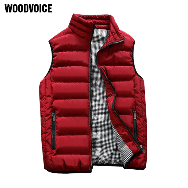 New Males Cotton Vest Autumn And Winter Couple Fashions Thickening Heat Cotton Vest Males Sleeveless Vest Jacket Waistcoat Mens Homme