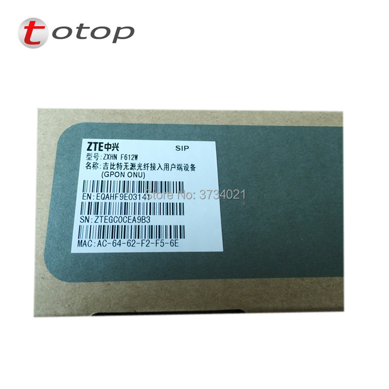 US $30 9 | ZTE gpon router F612W GPON ONU ONT 2FE+1TEL+wifi, ZXHN F612W  Router, SIP or H 248 protocol-in Fiber Optic Equipments from Cellphones &
