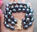 Excellent! 13mm Black Pearl Bracelet +FREE SHIPPMENT