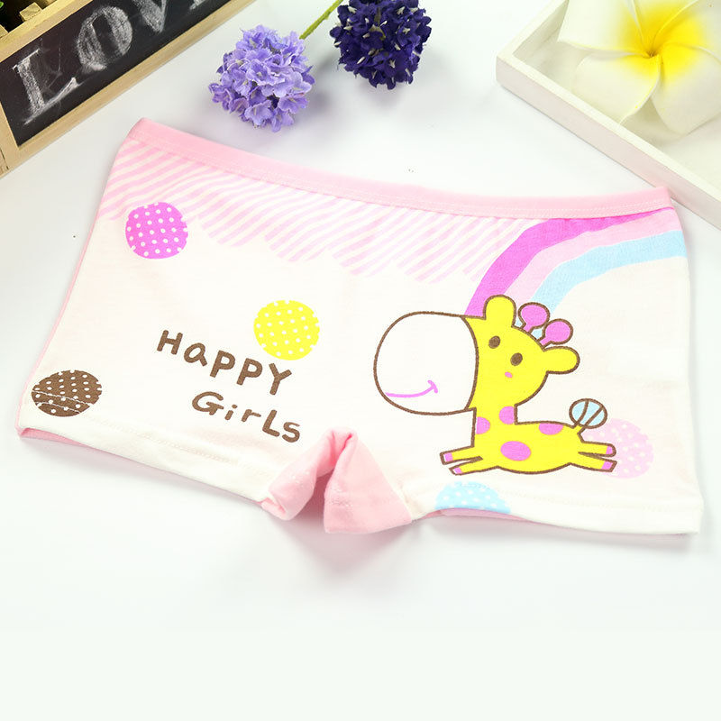 4Pcs/Lot Girls Underwear Children's Cotton Boxers Kids  Shorts Panites  Baby Girl Clothes for 2-10 years 2