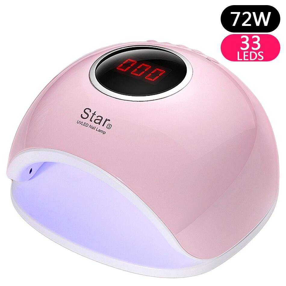 ROHWXY UV LED Lampe Für Nägel Trockner Sonne Licht Lampe Für Maniküre 72 watt Smart LCD Display Für Alle Gel nagellack Nail art Werkzeuge
