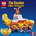Factory sales New Lepin 21012 553Pcs The beatles yellow submarine Model Building Kit Blocks Bricks Toy Compatible 21306