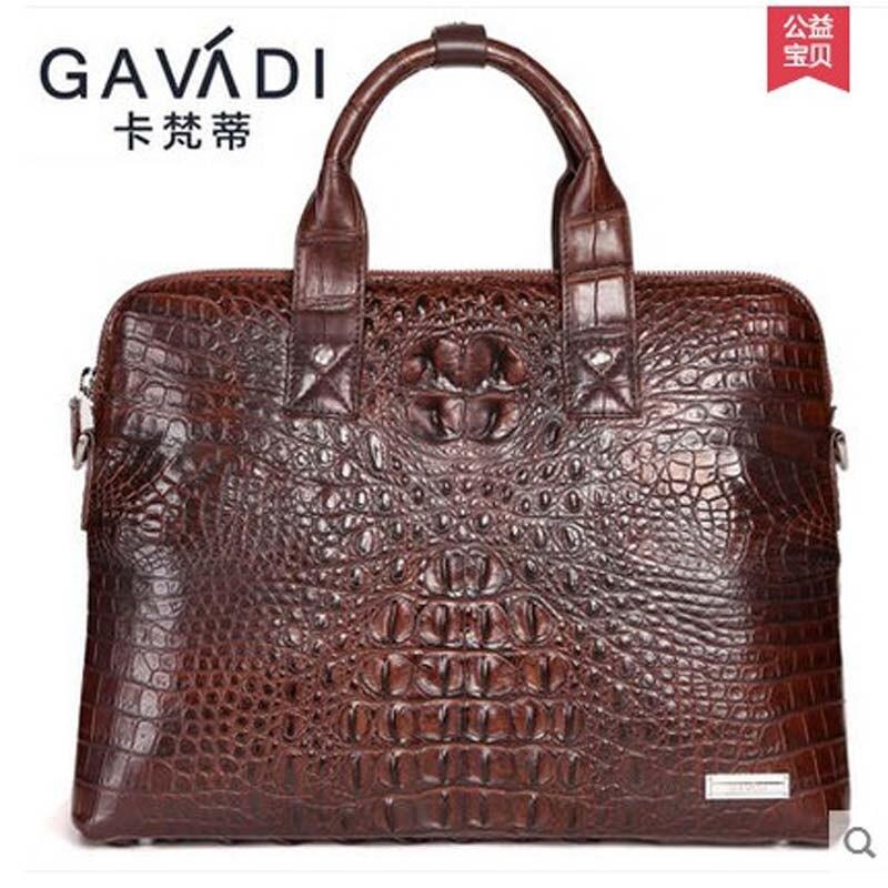 kafandi crocodile man bag carrying briefcase men bag new business men handbag men bag kafandi genuine leather crocodile man bag business men handbags laptop bag 2017 new men s briefcase crocodile bags