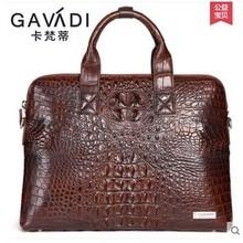 kafandi crocodile man bag carrying briefcase men bag new business men handbag men bag