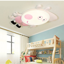 HAWBERRY LED white light neutral warm childrens bedroom room pig Peggy George cartoon simple ceiling lamp