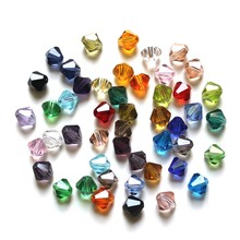 StreBelle 100pcs 6mm Bicone 5301 Austria Glass Crystal Beads Loose Spacer facted Bead for DIY Fashion Jewelry Making ZT3A16M