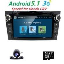 Камера Quad Core Android 5.1 dvd-плеер для Honda CRV 2006-2011 с gps-навигации Радио RDS встроенный 3gwifi DVR 1024*600