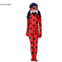 S L Girls Halloween Miraculous Ladybug Costume For Children Kids Insect Cosplay Carnival Purim Christmas Stage