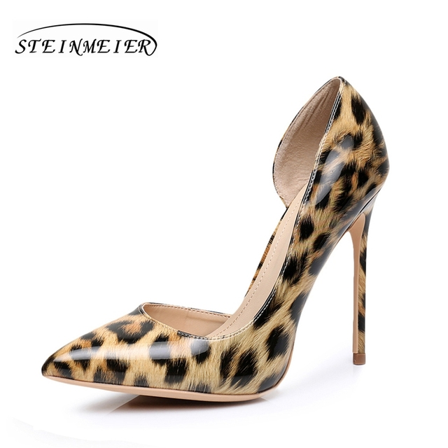 1b6149c7e2ab Sales clearance! Sexy women leopard high heels quality 12cm 10cm thin heel  point toe us5 yellow party wedding women pumps shoes