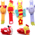 Baby Toy Baby Rattles Toys Animal Wrist Strap Cute Sheep, Bee, Monkey Mobile Musical Baby Rattles Toys
