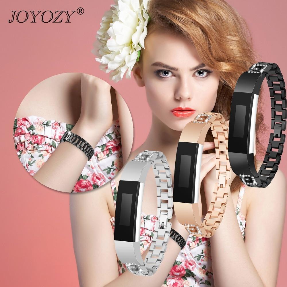 Joyozy Высокое качество со стразами нержавеющая сталь наручные часы Набор браслетов Для Fitbit Alta G браслет застежка часы интимные аксессуары