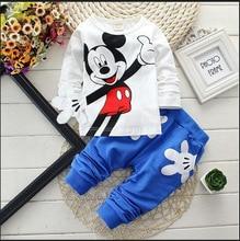 Boys&Girls Cotton Spring sport suit Kids Mickey Minnie Clothing set Kids fashion clothes baby boys&Girls cartoon set