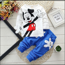 Boys&Girls Cotton Spring sport suit Kids Mickey Minnie Clothing set Kids fashion clothes baby boys&Girls cartoon set