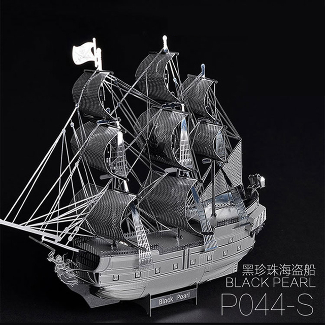 Piratas frete grátis do caribe pérola negra metal 3d diy handmade montagem modelo veleiro brinquedo puzzles presente militar