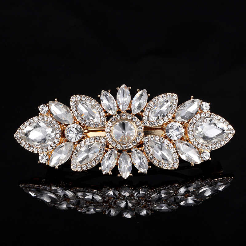 2018 Tahun Baru Perhiasan Pengantin Kristal Jepit Aksesoris rambut pins Bijoux Wanita Berlian Imitasi Kepala Perhiasan untuk Hadiah Pernikahan