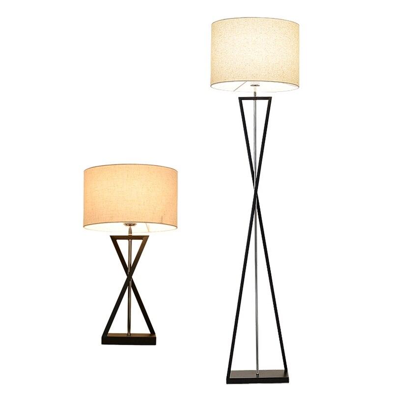 Modern Minimalist LED Floor Lamp simple Standing Lamp Energy save Living room Reading Lighting Floor light black white