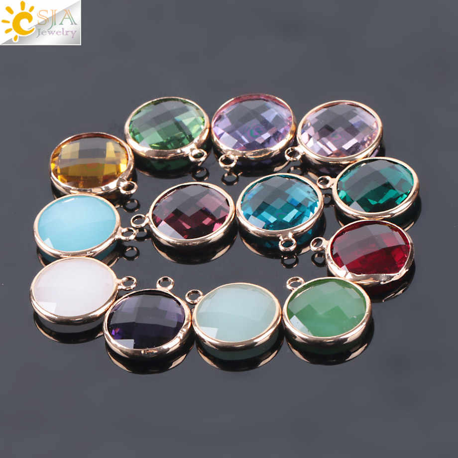 CSJA 2.5mm Single Hole Bohemian Round Pendant Murano Crystal Glass Beads for Women DIY Necklace Earrings Handmade Jewelry E965