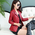 2016 осень кожаная одежда женские короткие кожаные пальто тонкий дизайн одежды мотоцикл куртки женские пальто
