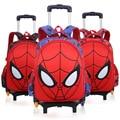 Spider man bagage kinderen Reizen Jongen trolley Rugzak Kids Schooltas
