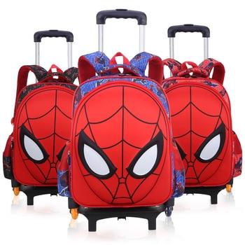Spider man luggage Children's Travel Boy's trolley Backpack Kids Bag School