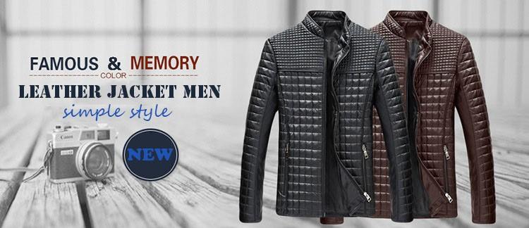 2015 new arrive leather jacket men winter chaquetas cuero hombre men famous brand biker jacket winter warm leather coat