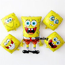 spongebob party supplies baby kids toys helium foil children birthday decoration emoji cartoon balloons