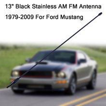 13in Black Stainless AM FM Antenna Mast Fits: 1979-2009 For Ford Mustang#G40(China)
