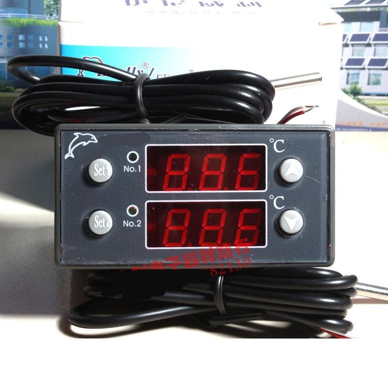 dual display 2 sensor Thermostat Temperature Controller Regulator 220V