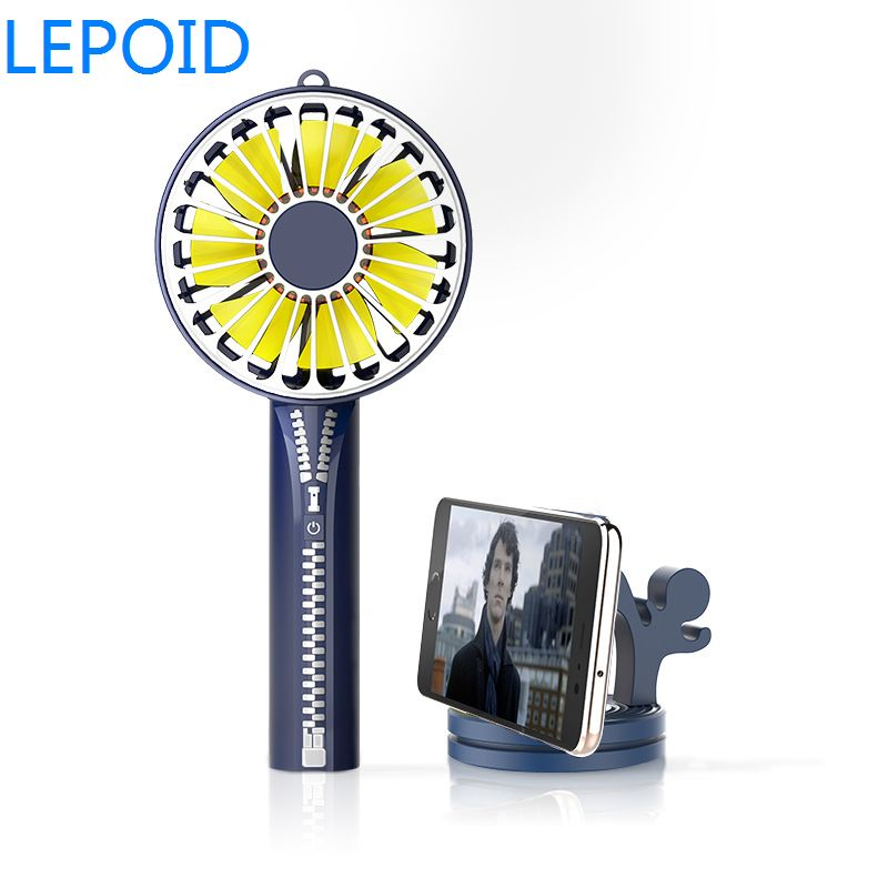 LEPOID Mini Portable Fan Rechargeable Handheld Battery Operated Power Bank Fan for Travel Camping Office