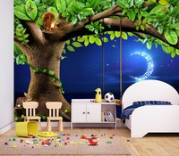 Custom Ang Size 3D Wallpape Forest Quiet Children's Room TV Background Wall Painting Wallpaper
