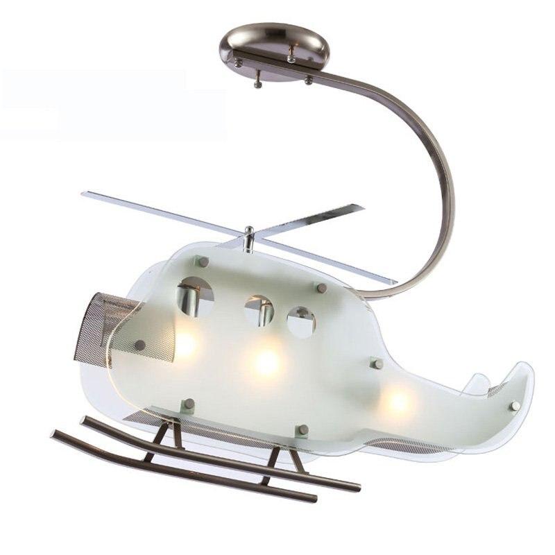 子供の寝室ガラス平面天井ライト新しい現代の子供の寝室ヘリコプターランプ天井フィクスランプ卸売シーリングライト