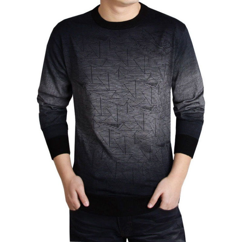 Brand Clothing Cashmere Sweater Men Print Casual Shirt Men's Sweater Wool Pullover Men O-Neck Pull Homme Business Top