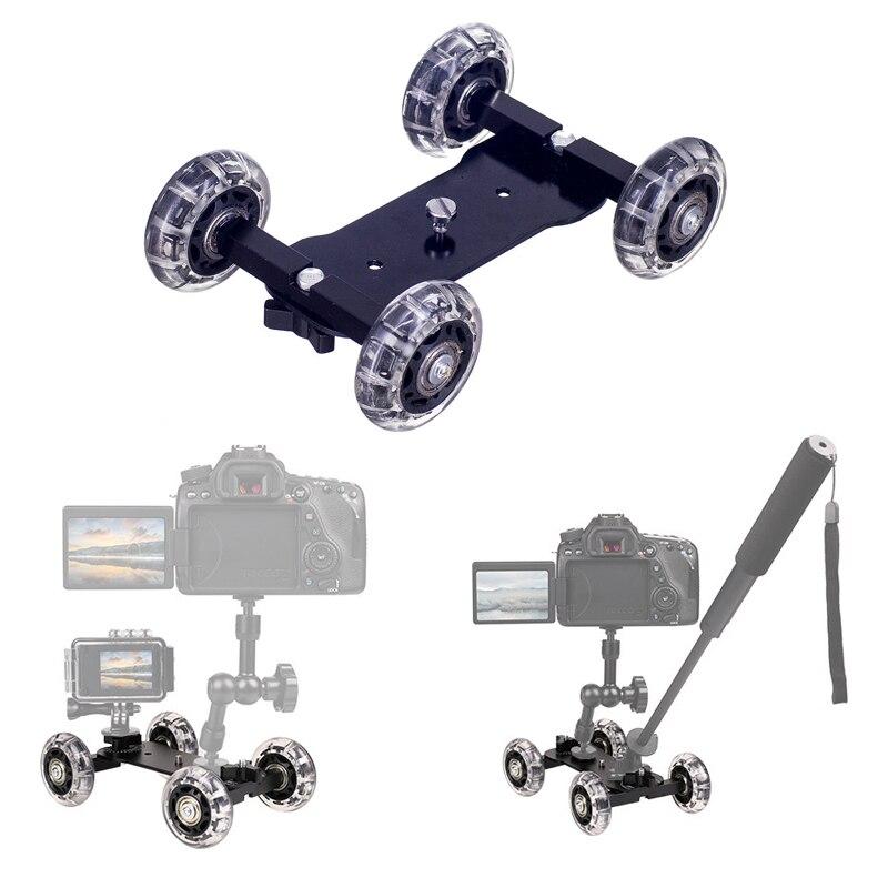 Curseur de piste de chariot de table de curseurs de caméra de photographie avec des systèmes de Rail de bras magique de 11 pouces pour le Smartphone d'appareil-photo de reflex numérique de Canon