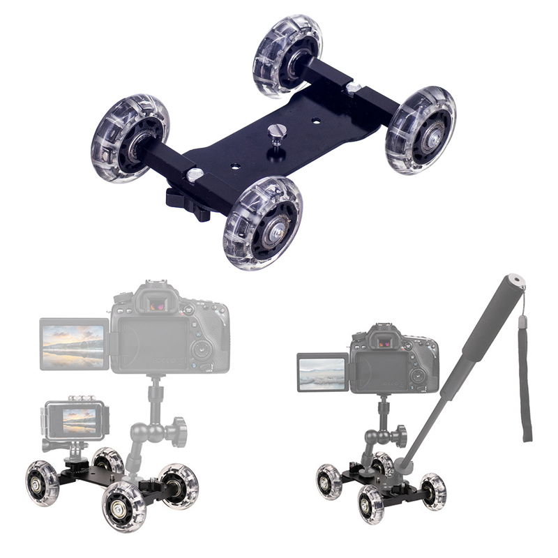 Photography Camera Sliders Tabletop Dolly Track Slider with 11 inch Magic Arm Rail Systems for Canon DSLR Camera Smartphone image