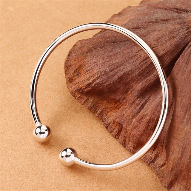 Fashion 1Pc Women Bangle Simple Opening Hot Sale Golden/Silvery New Alloy Gracef