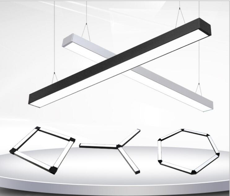 LED chandelier office lighting lighting hanging line modern minimalist restaurant strip aluminum chandelier project led lightsLED chandelier office lighting lighting hanging line modern minimalist restaurant strip aluminum chandelier project led lights
