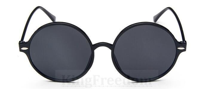 US $13.49 |80er Vintage Runde 55mm Sonnenbrille Schwarz Brillen Rahmen Grau Shades Brille 15915 in Sonnenbrillen aus Kleidungaccessoires bei