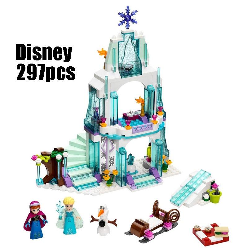 WAZ Compatible Legoe 41062 Girl Friends Kids LELE 79168 blocks Elsa's Sparkling Ice Castle building blocks toys for children lele 79168 elsa queen lainio snow village bricks toys minifigures building block toys best legoelieds