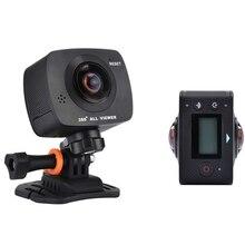 Nueva Llegada AMKOV AMK200S lente dual 360*360 Grados Panorama Cámara HD WiFi Cámara Del Deporte Cámara de la Acción de Apoyo VR Youtube