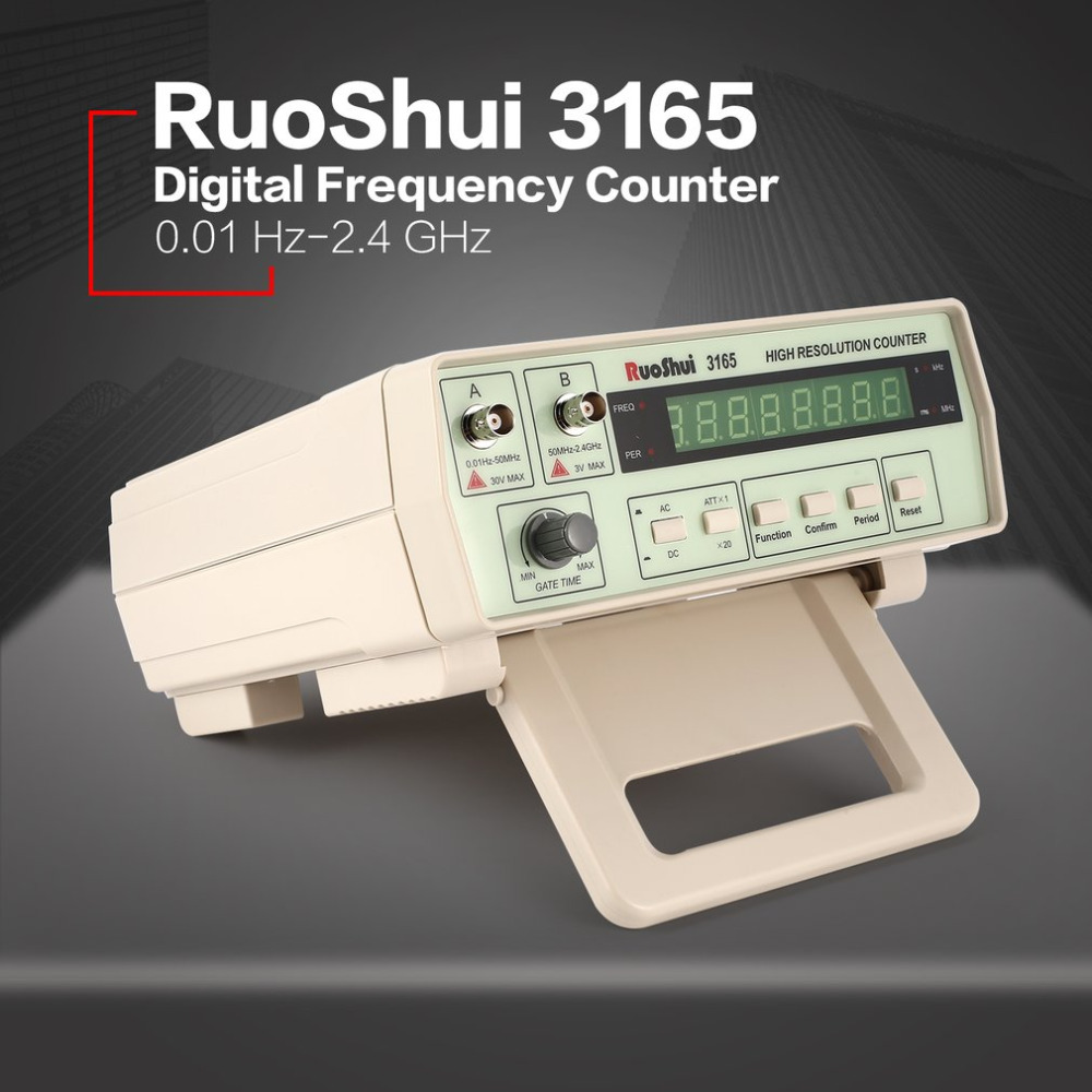 RuoShui 3165 Digital High Precision Radio Frequency Counter Testing Meter 0.01Hz - 2.4GHz Frequency Monitor Counter Tester frequency meter digital high precision generator frequency meter digital 0 01hz 2 4ghz frequency counter hz tester analyzer