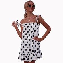Simply elegant dot pattern women dresses sweet slash-neck ruffles straight girl dress for summer female 81933 sweet round neck geometric pattern mini dress for girl